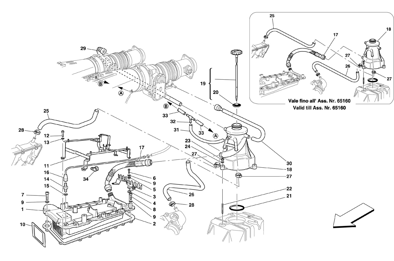 LUBRICATION SYSTEM - TANK - HEATER EXCH