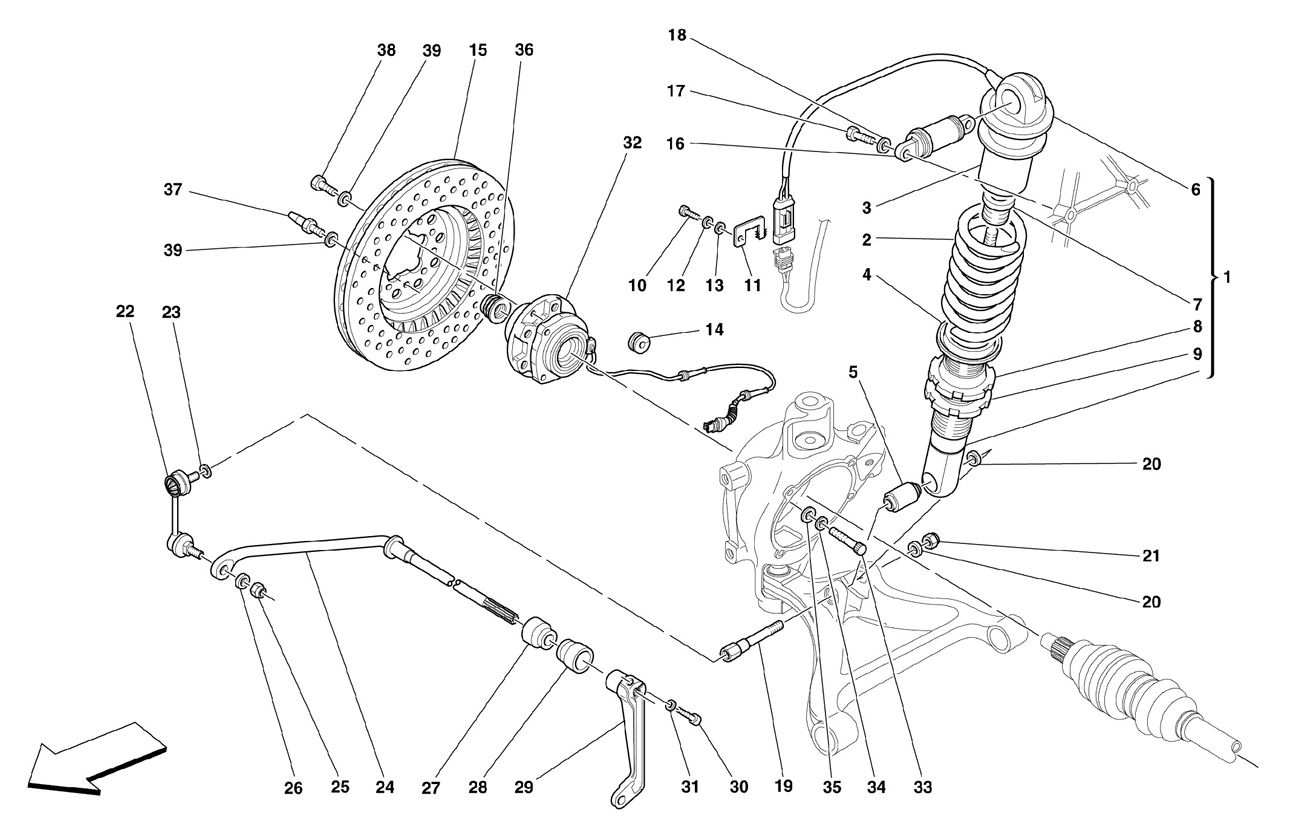 REAR SUSPENSION - SHOCK ABSORBER AND BR