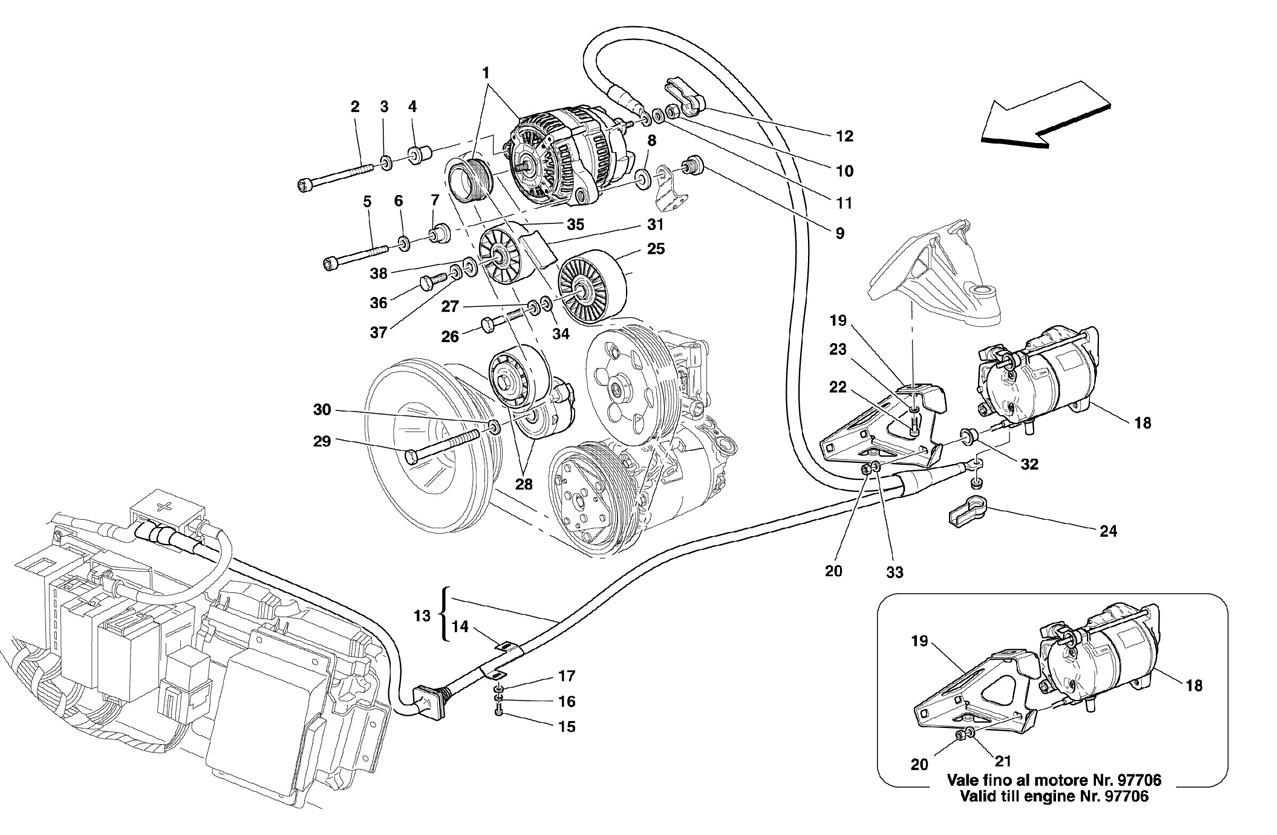 CURRENT GENERATOR - STARTING MOTOR