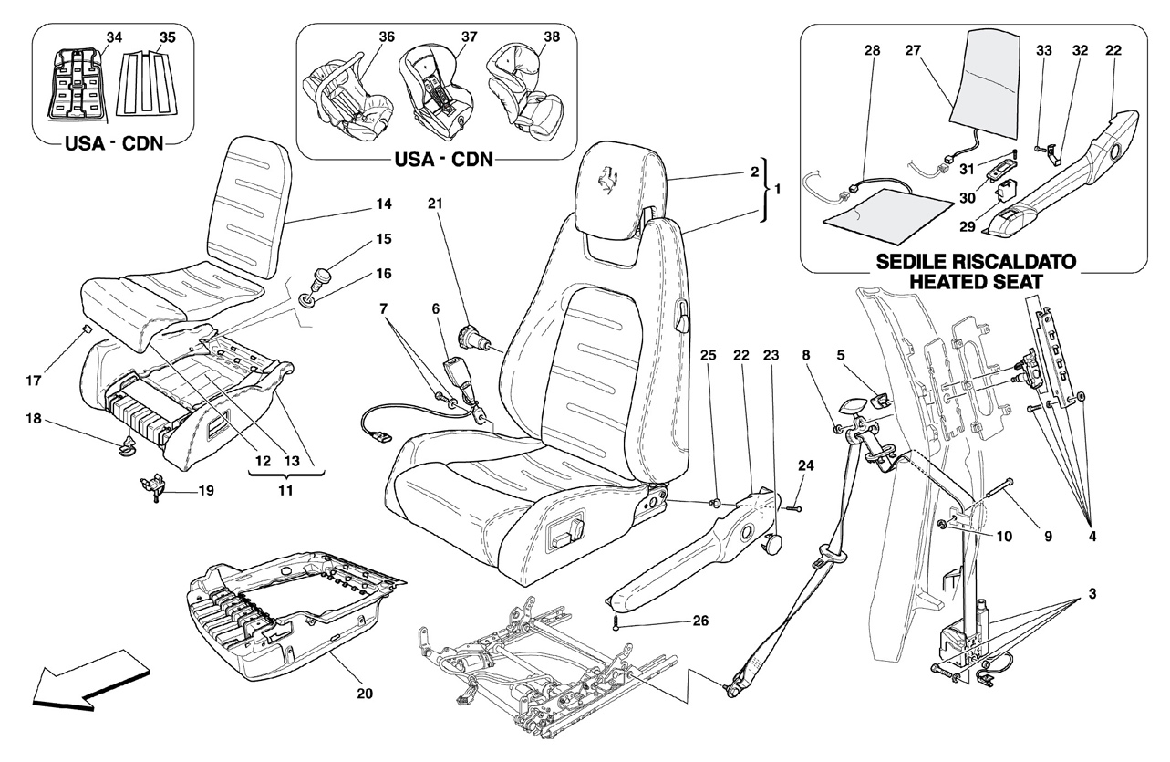 ELECTRICAL SEAT - SAFETY BELTS -Optiona