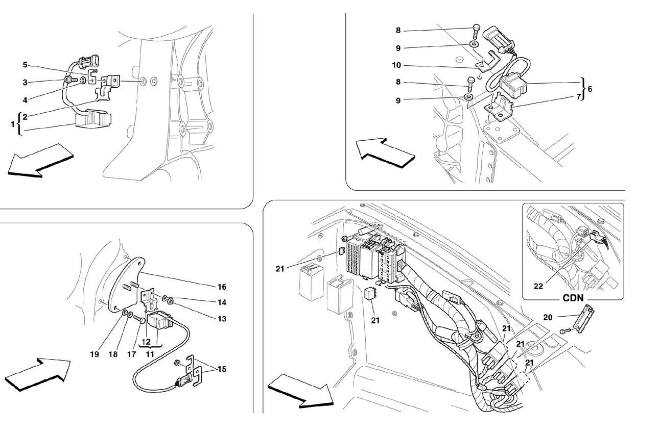 FRONT AND MOTOR COMPARTMENTS ELECTRICAL
