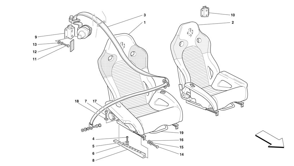 SEATS AND SAFETY BELTS -NOT FOR USA