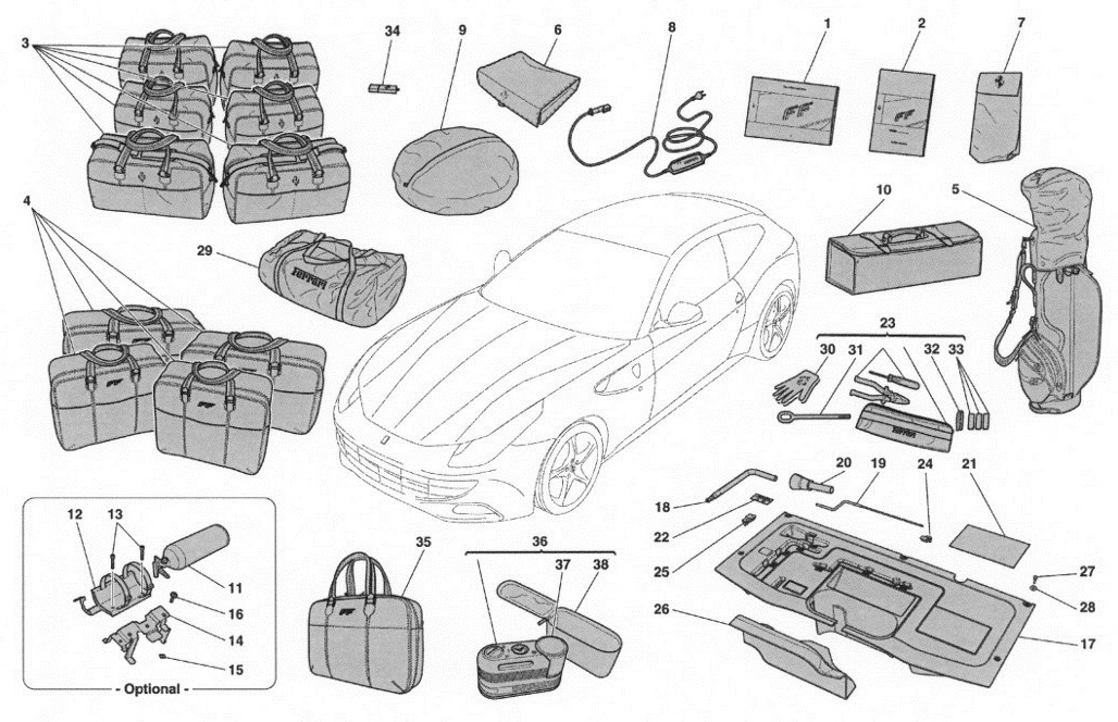TOOLS AND ACCESSORIES PROVIDED WITH VEHICLE