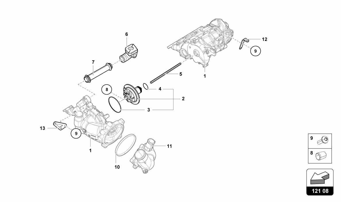 WATER OIL PUMP-INTERNAL COMPONENTS