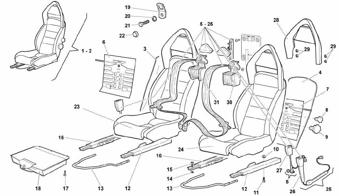 SEATS AND SAFETY BELTS