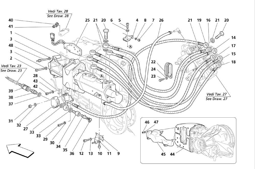 F1 CLUTCH HYDRAULIC CONTROLS -VALID FOR F1