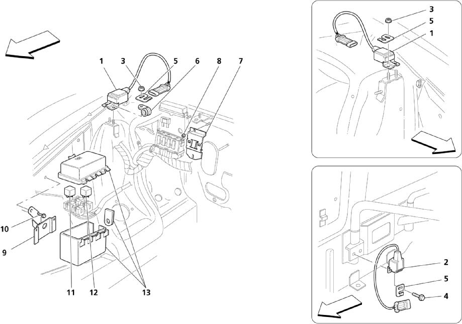 ENGINE BONNET SENSOR AND CONTROL STATIONS