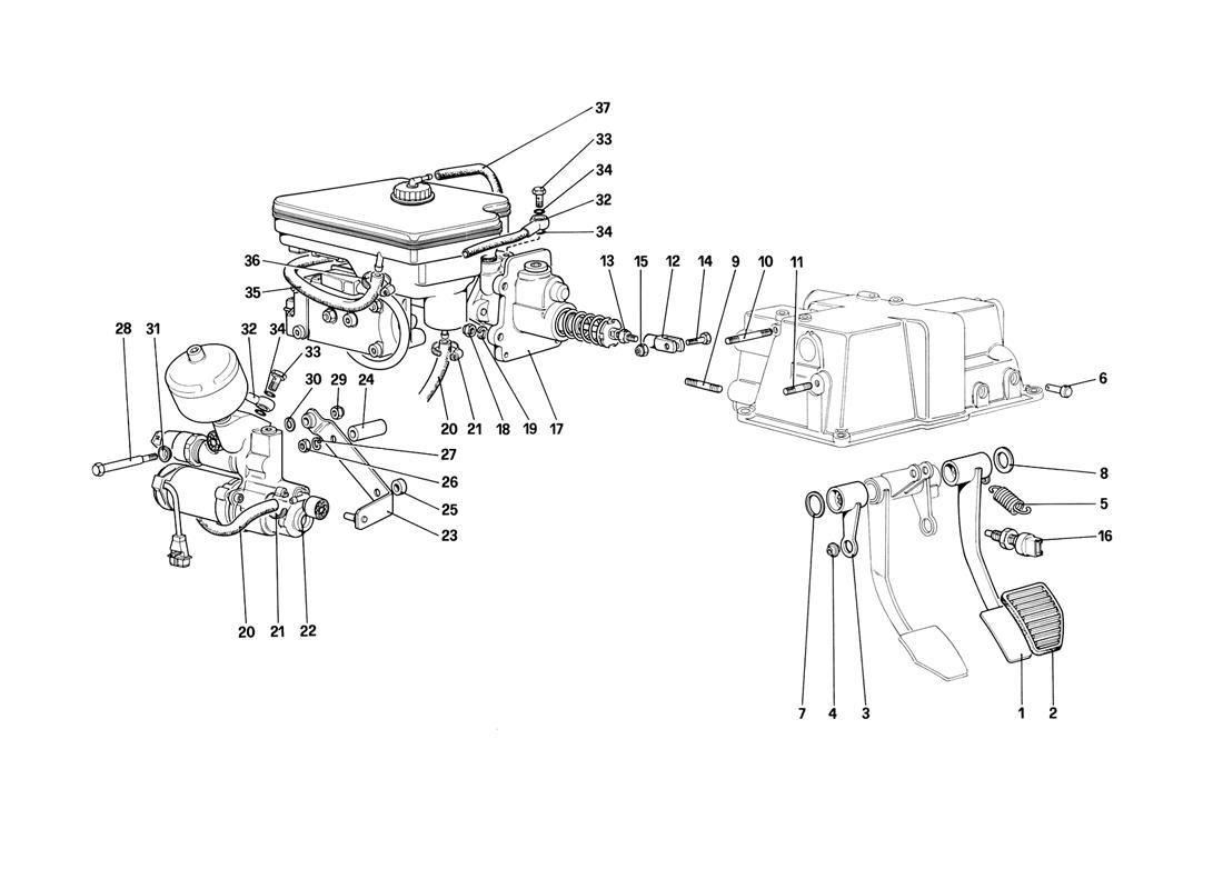 BRAKE HYDRAULIC SYSTEM (FOR CAR WITH ANTISKID SYSTEM)