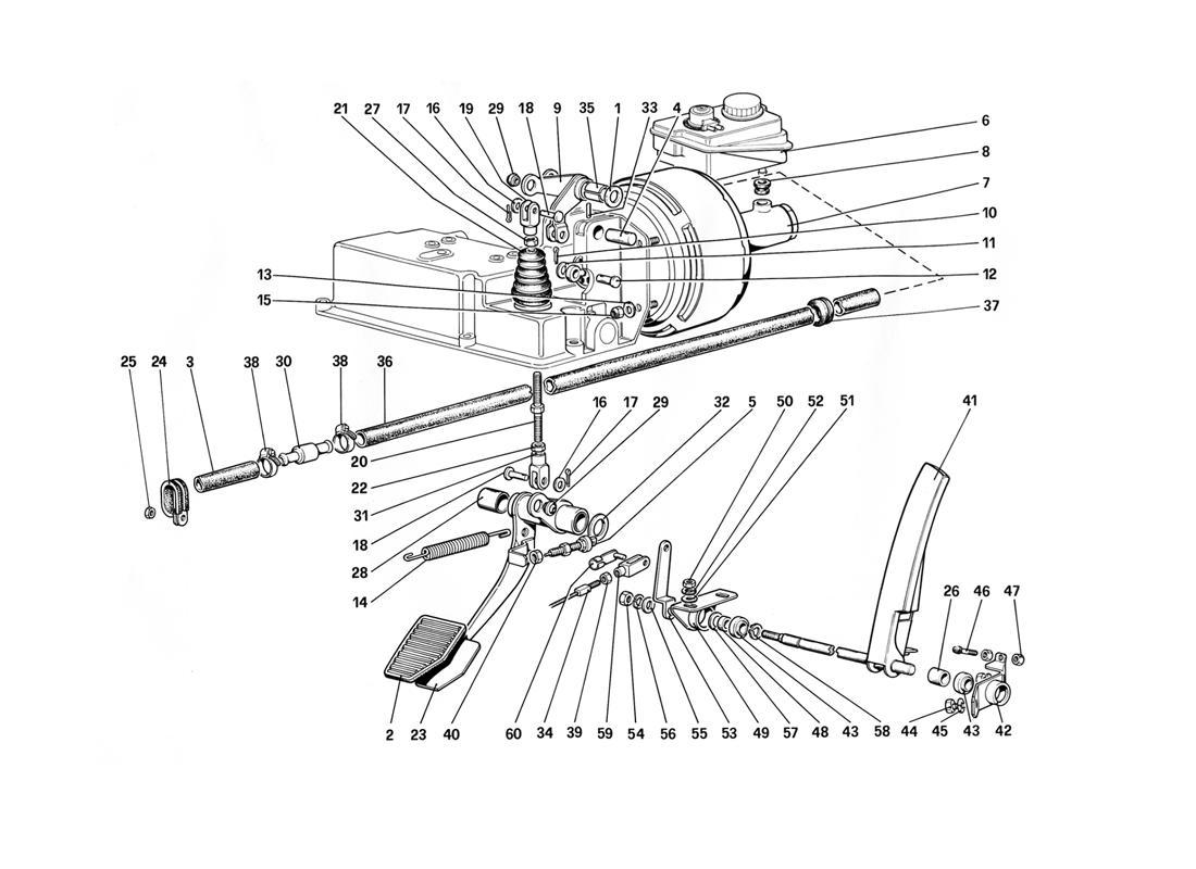 THROTTLE CONTROL AND BRAKE HYDRAULIC SYSTEM (FOR RHD)