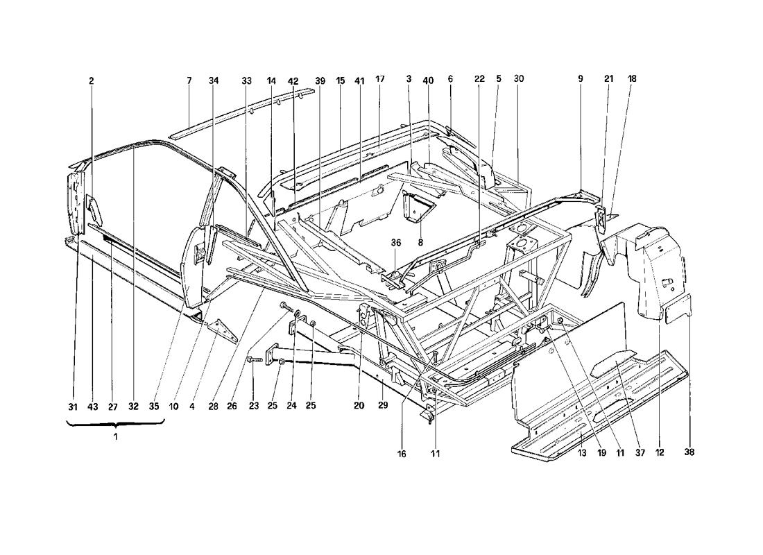 BODY SHELL - INNER ELEMENTS - 3.2 MONDIAL COUPE