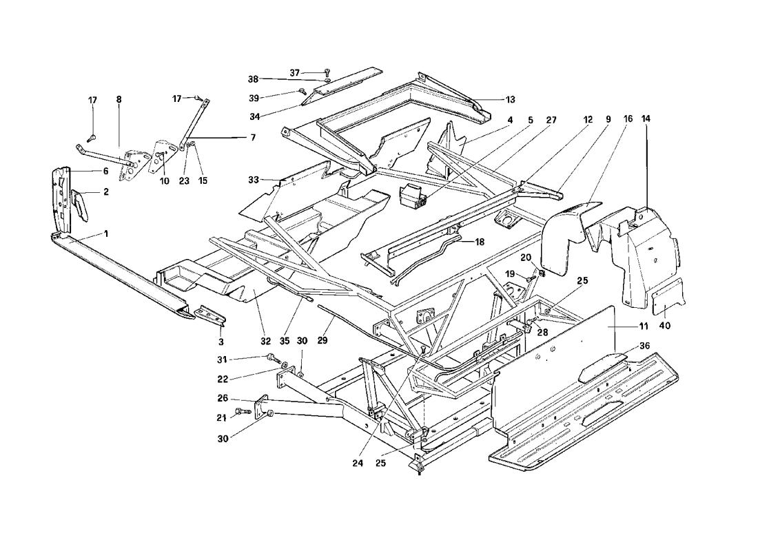 BODY SHELL - INNER ELEMENTS - CABRIOLET