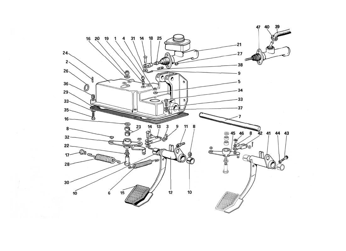 PEDAL BOARD - CLUTCH CONTROL (VARIANTS FOR RHD)