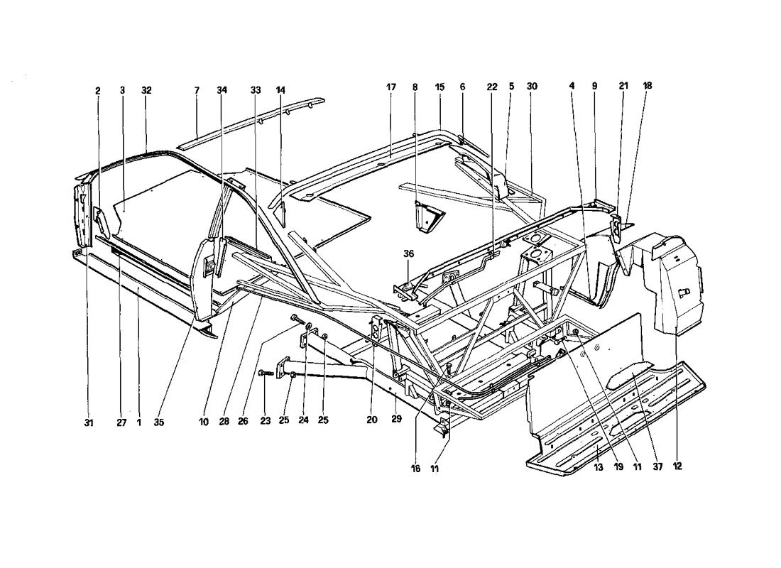 BODY SHELL - INNER ELEMENTS - QUATTROVALVOLE