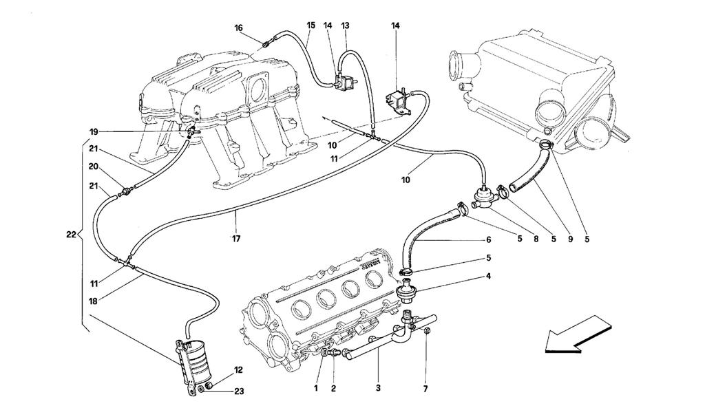 AIR INJECTION DEVICE -FOR CARS WITH CATALYST - MOTRONIC 2.5-