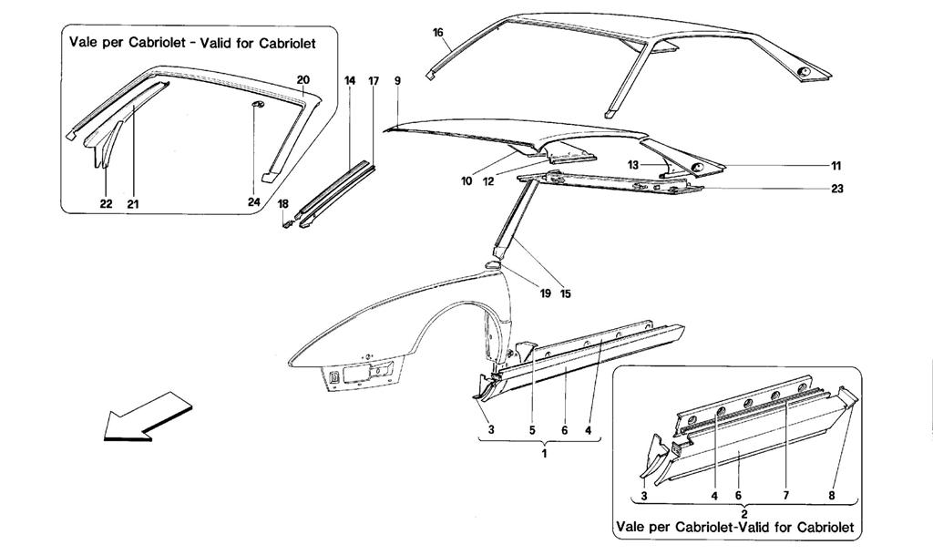 BODY SHELL: OUTER ELEMENTS - CENTRAL PART