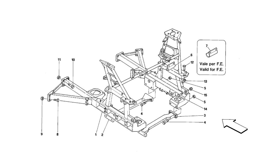REAR REMOVABLE FRAME -VALID FOR CARS WITH 4P