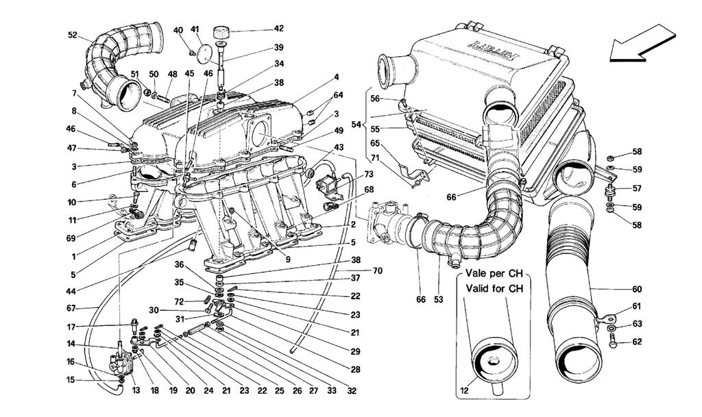 MANIFOLDS AND AIR INTAKE -MOTRONIC 2.5-