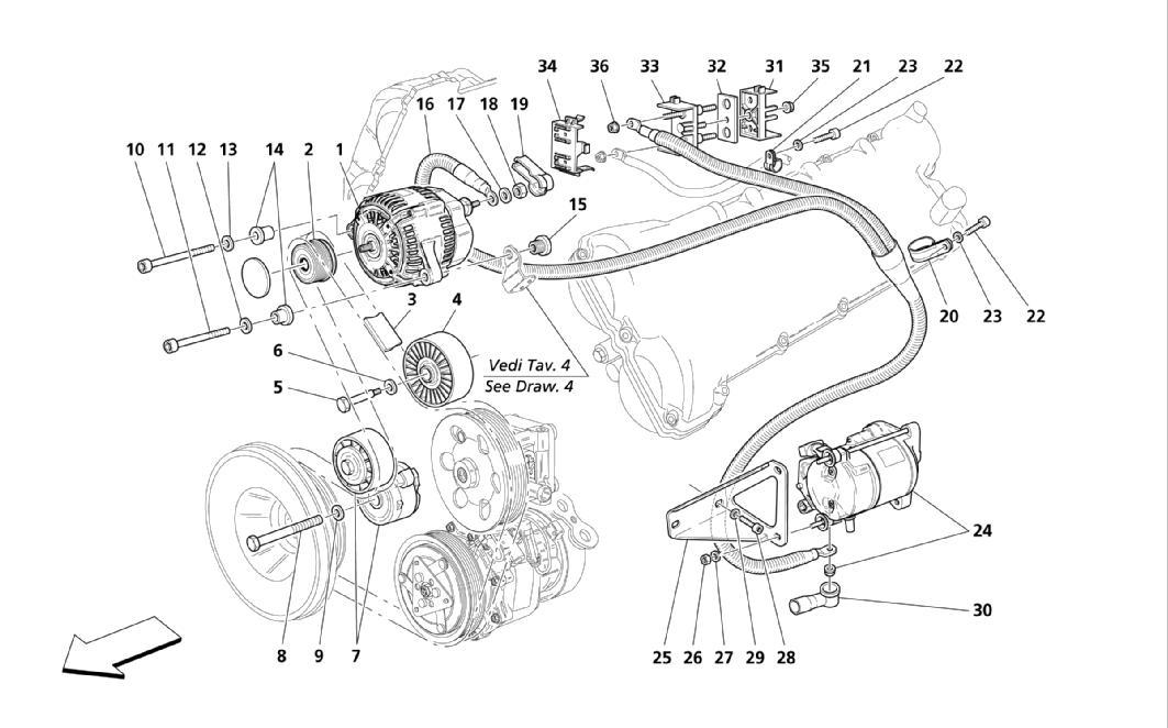 CURRENT GENERATOR-STARTING MOTOR