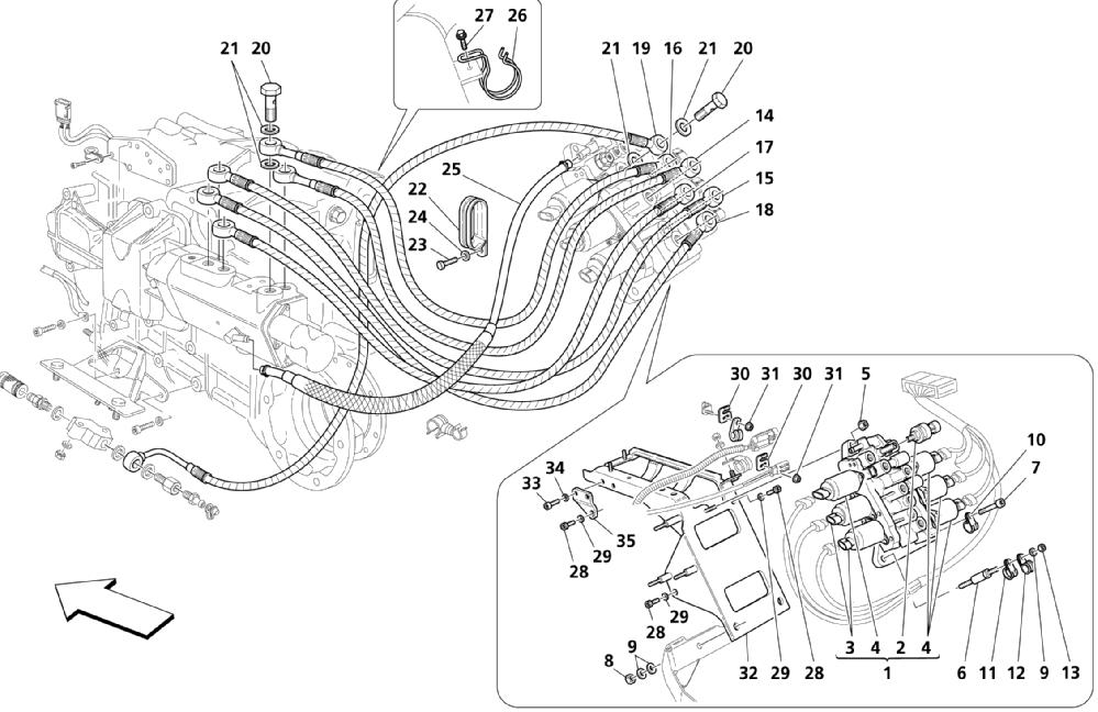 GEARBOX CONTROL HYDRAULICS: POWER UNIT