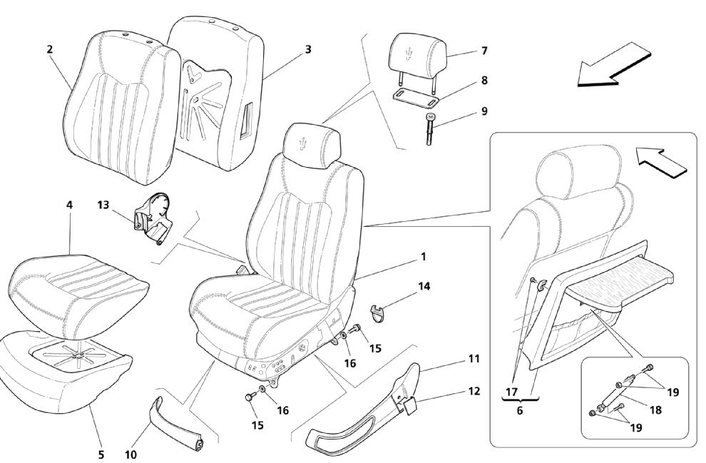 FRONT SEATS: LININGS (Page 1/4) (See validity on n