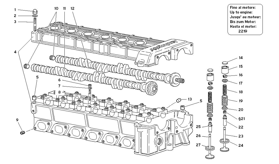 RIGHT CYLINDER HEAD (TO ENGINE 2219)