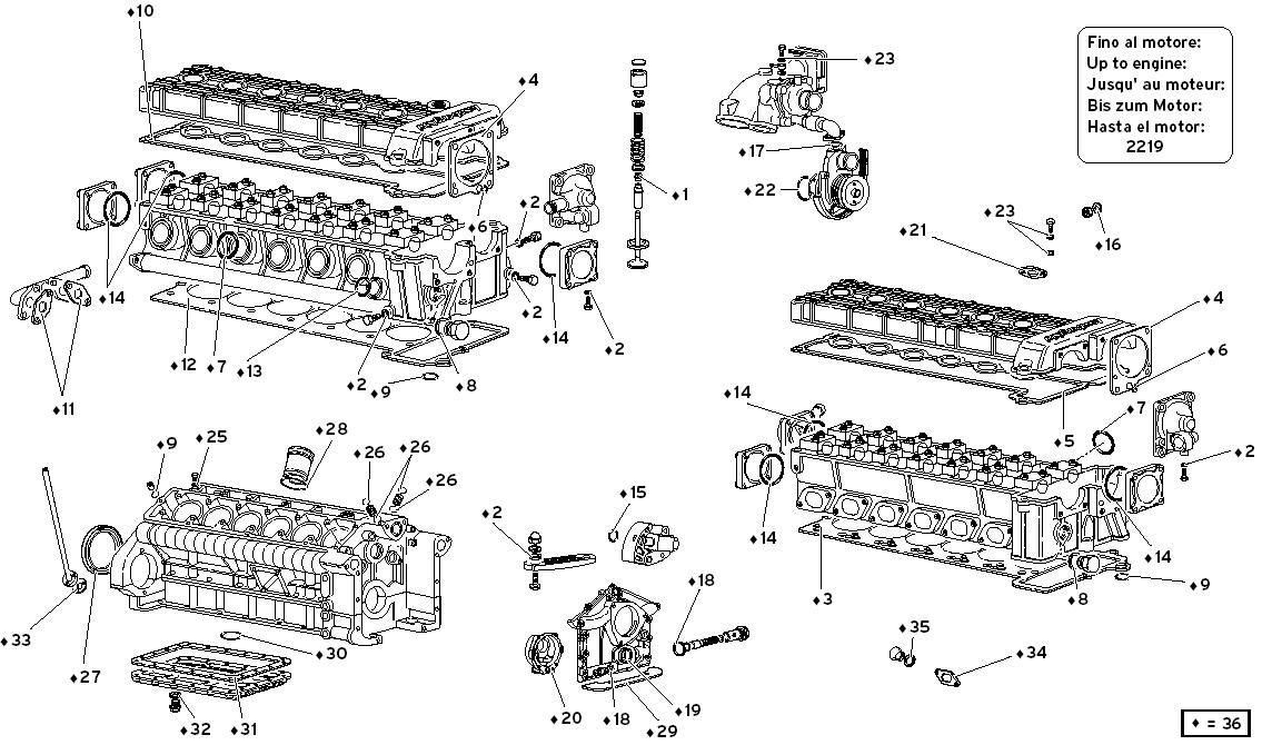 ENGINE GASKETS KIT (UNTIL ENGINE 2219)