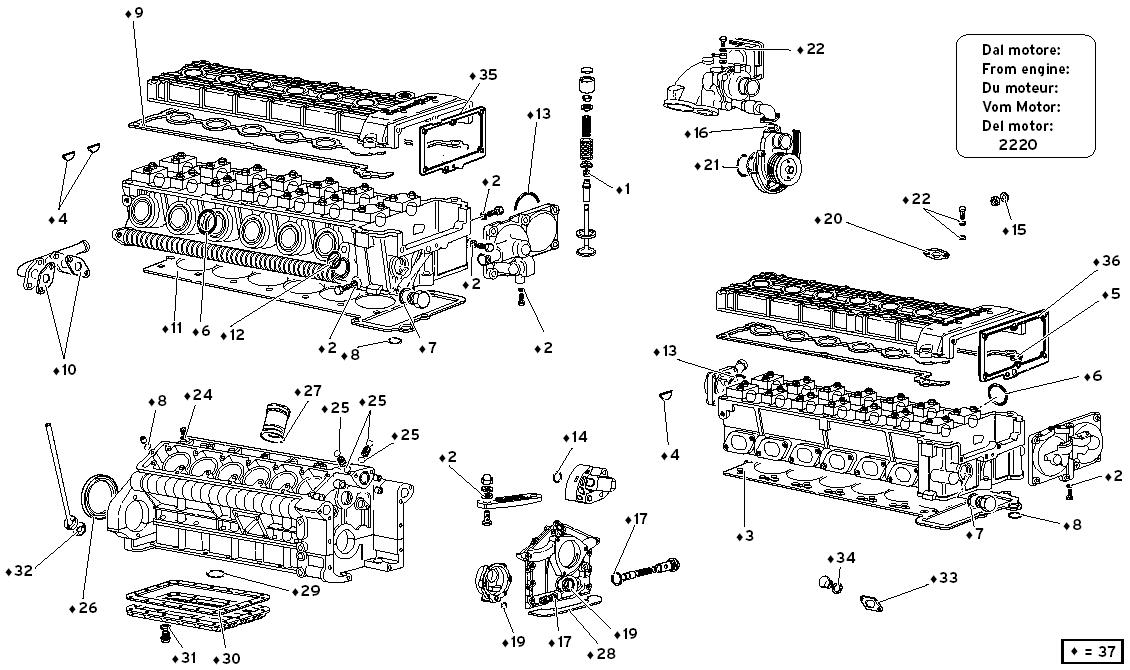 ENGINE GASKETS KIT (FROM ENGINE 2220)
