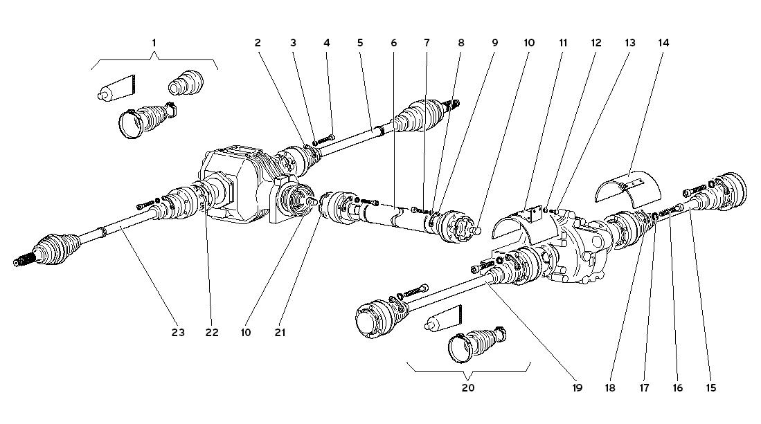 DRIVESHAFTS AND PROPELLER SHAFT A