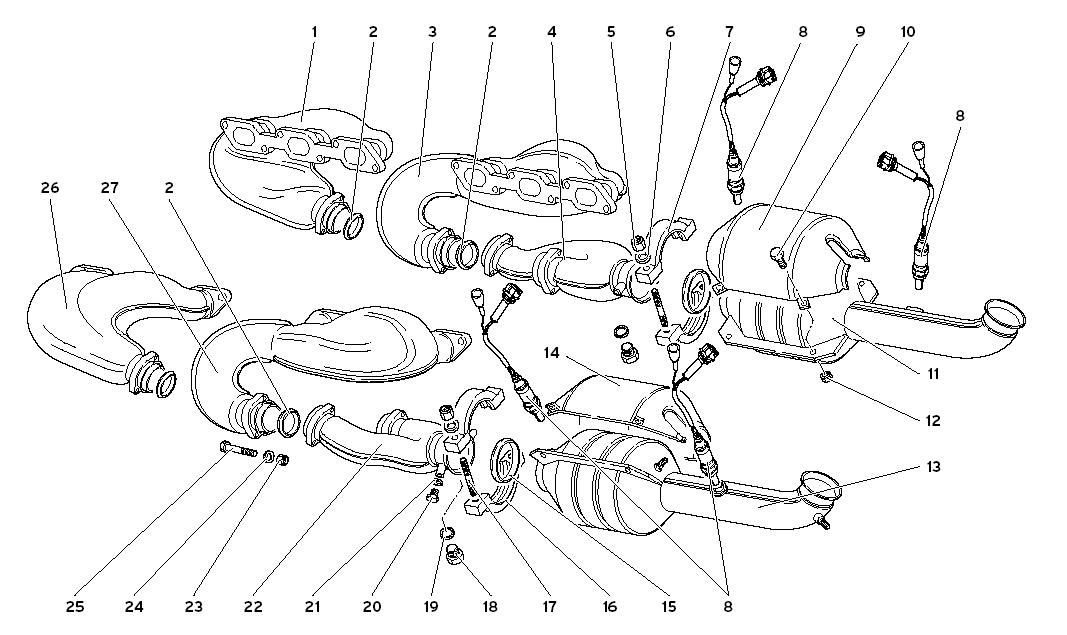 EXHAUST SYSTEM (VER 71- 96)