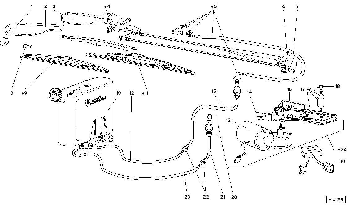 WINDSCREEN WIPER - TWO-FIN SYSTEM