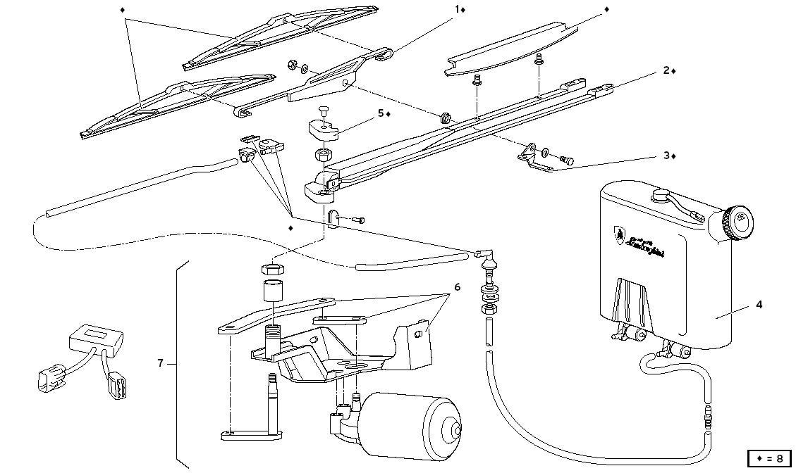WINDSCREEN WIPER (VER 74- 76) - ONE FIN SYSTEM