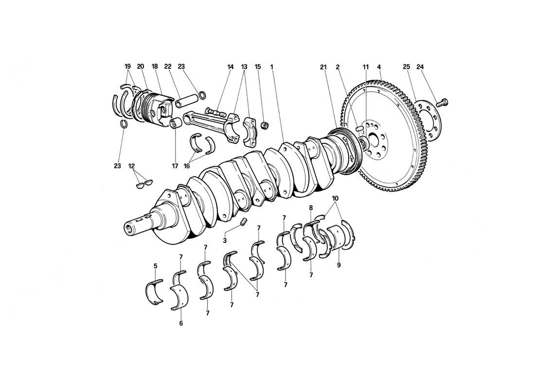 CRANKSHAFT - CONNECTING RODS AND PISTONS