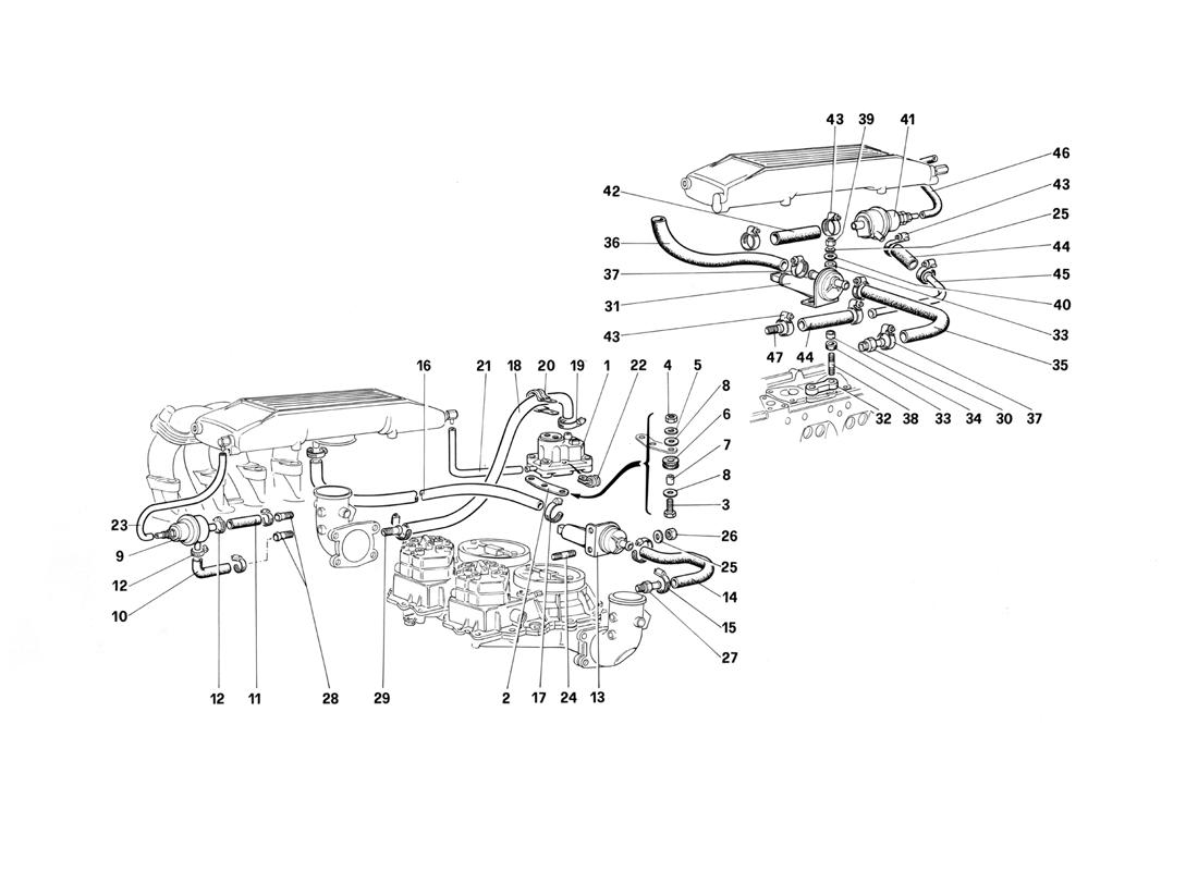 FUEL INJECTION SYSTEM - VALVES AND LINES