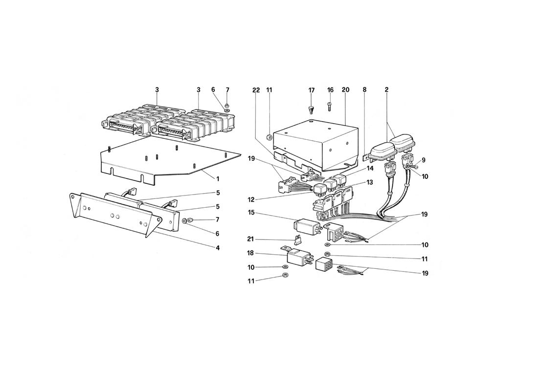 ELECTRIC CONTROLS FOR KE - JETRONIC AND EXHAUST
