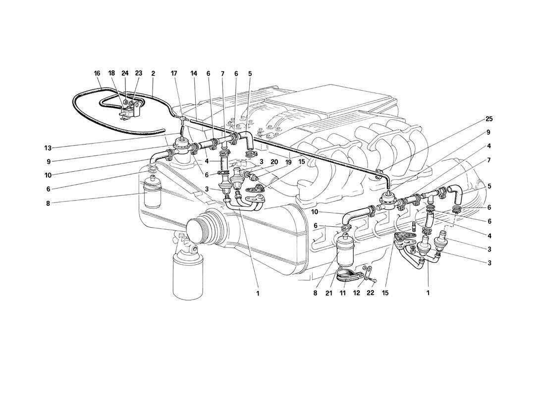 AIR INJECTION AND LINES (FOR CH87 AND CAT)