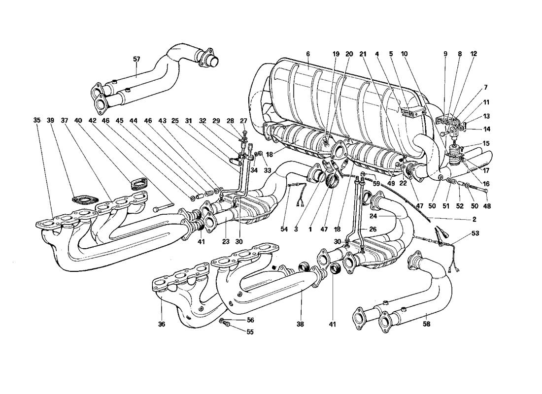 EXHAUST SYSTEM (FOR US - SA AND CAT VERSION)