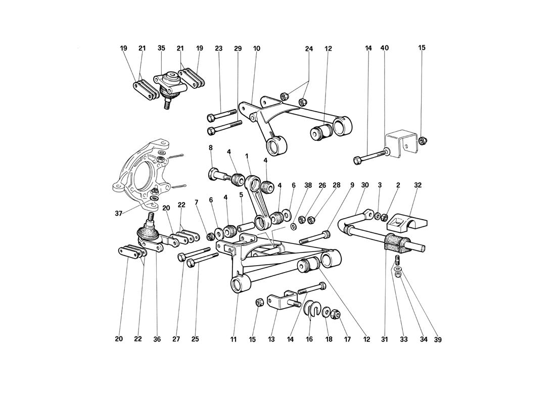 FRONT SUSPENSION - WISHBONES (UNTIL CAR NO. 75995)