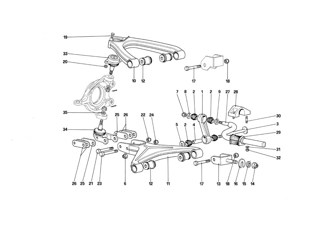 FRONT SUSPENSION - WISHBONES (STARTING FROM CAR NO. 75997)
