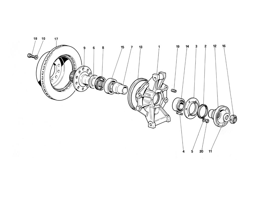 REAR SUSPENSION - BRAKE DISC (UNTIL CAR NO. 75995)