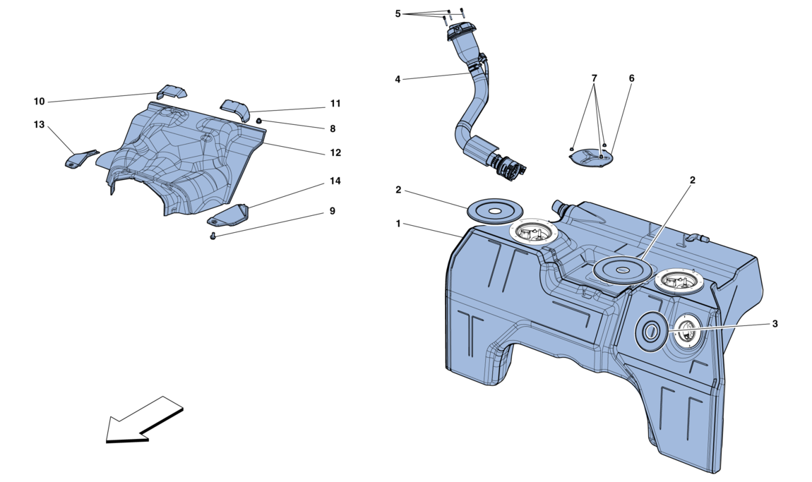 FUEL TANK AND FILLER NECK