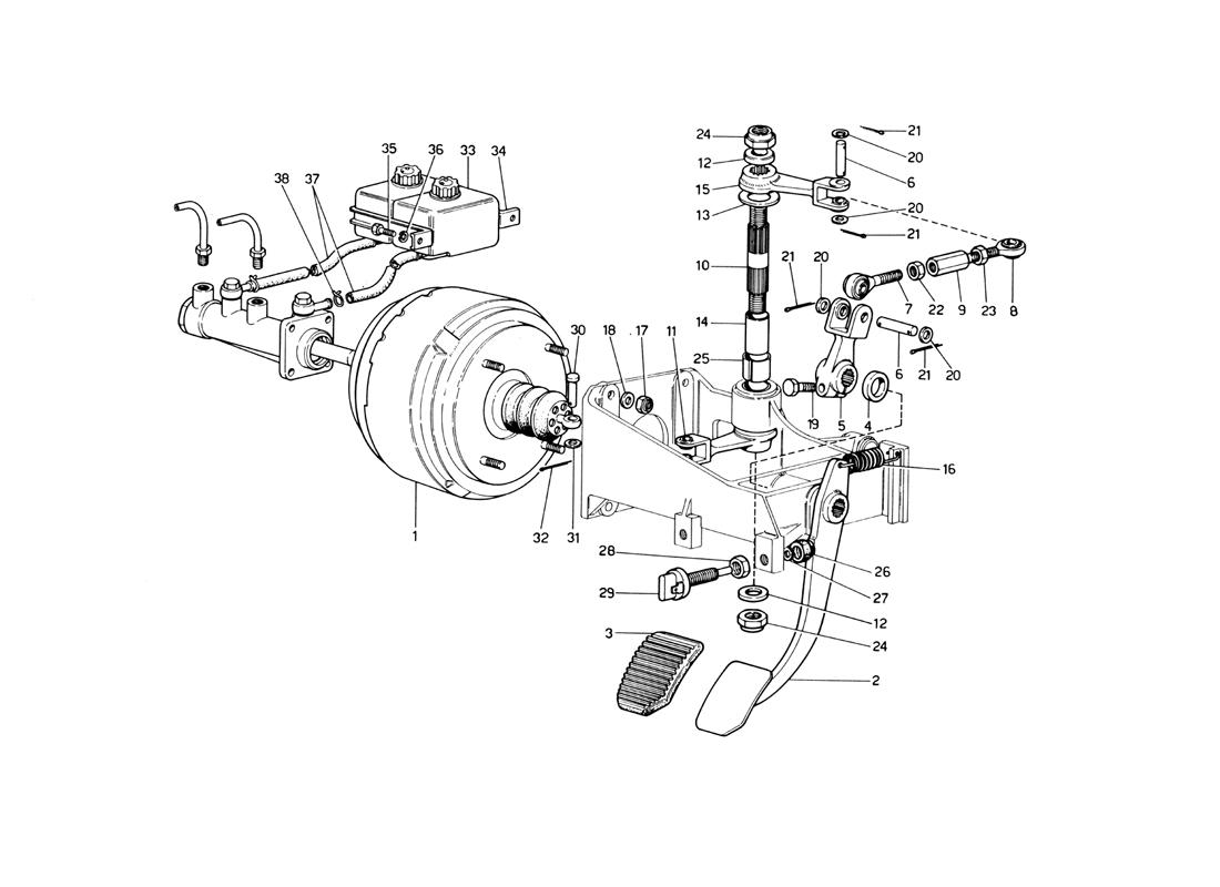 BRAKE HYDRAULIC SYSTEM (VARIANTS FOR RHD VERSIONS)