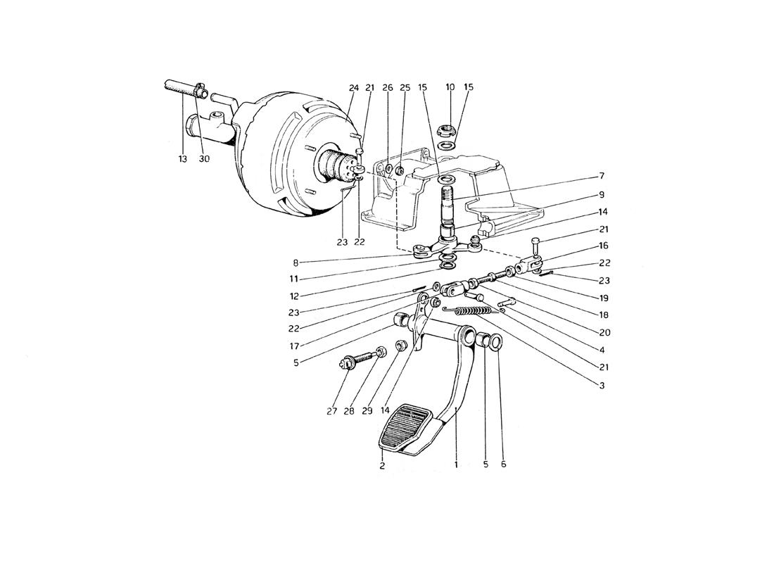 BRAKE HYDRAULIC SYSTEM (VARIANTS FOR RHD VERSION)