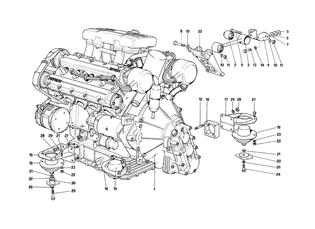 ENGINE - GEARBOX AND SUPPORTS
