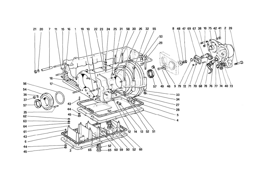 GEARBOX - DIFFERENTIAL HOUSING AND OIL SUMP