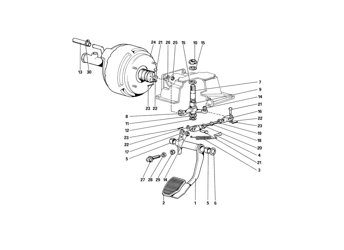BRAKE HYDRAULIC SYSTEM (VARIANTS FOR RHD VERSIONS)