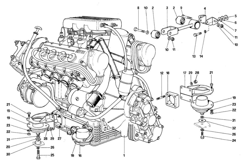 ENGINE – GEARBOX AND SUPPORTS