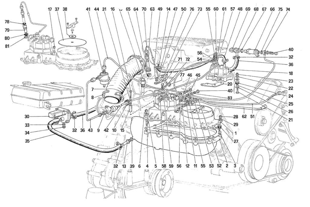 FUEL INJECTION SYSTEM – FUEL DISTRIBUTORS, LINES