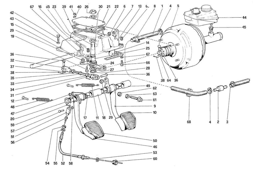 PEDAL BOARD – BRAKE AND CLUTCH CONTROLS