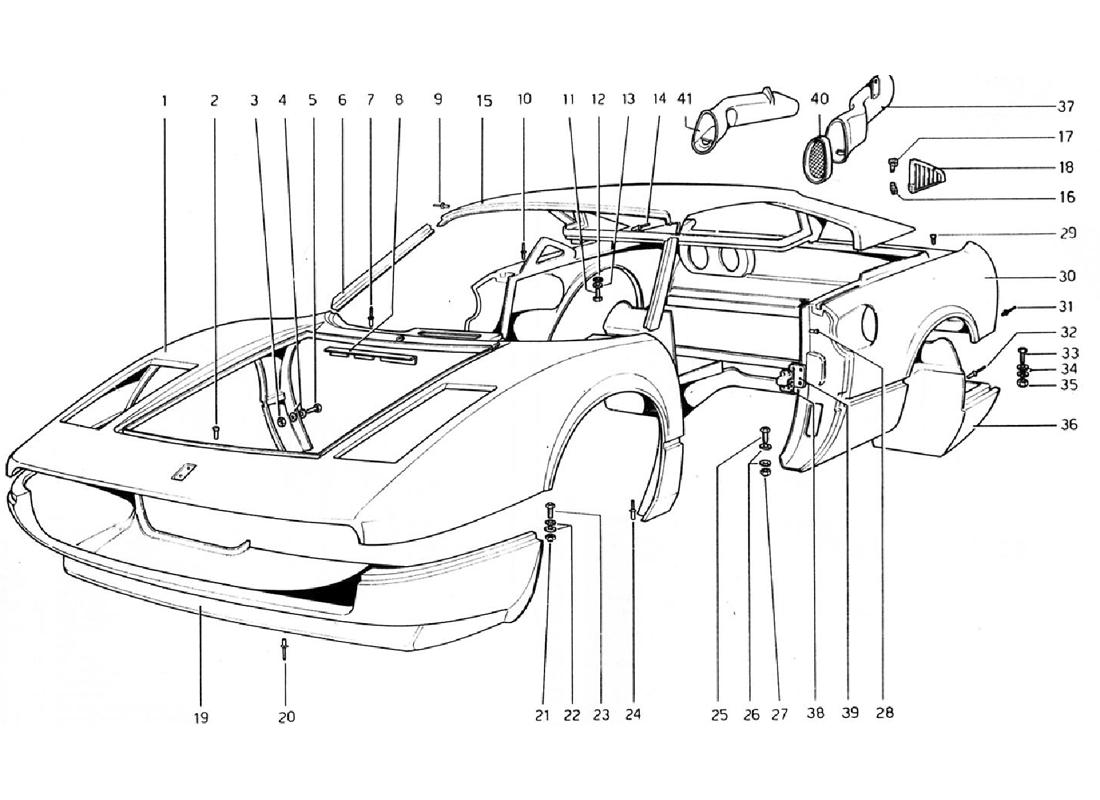 BODY SHELL - OUTER ELEMENTS