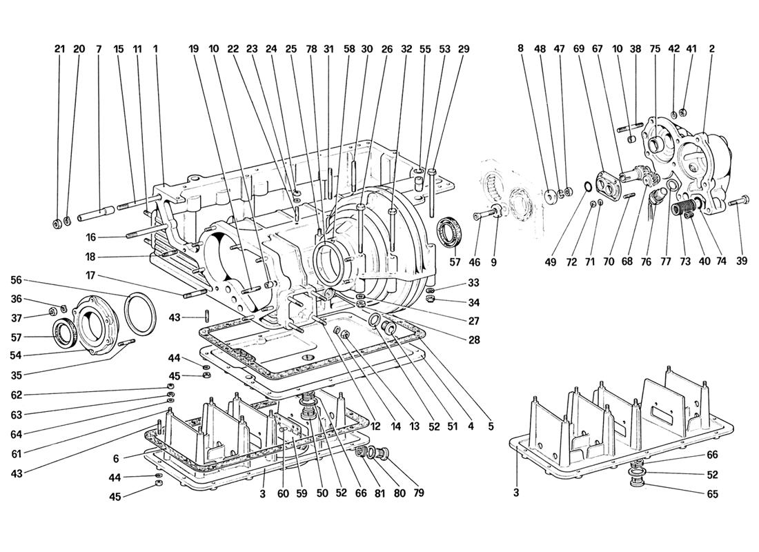 GEARBOX - DIFFERENTIAL HOUSING AND OIL PUMP